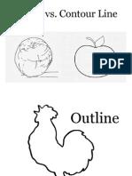Outline vs. Contour Line