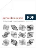 Keywords in Sound Edited by Novak and Sakakeeny
