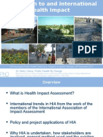 Introduction to and International Trends in Health Impact through Case Study Experiences