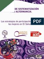 Las estrategias de participación política de las mujeres en El Salvador