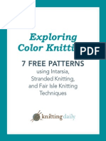 7 Free Color Knitting Patterns
