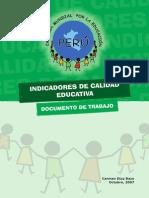 Informe Indnfxncncf de Calidad Educativa