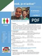Dépliant Publicitaire Activités Mercredis PM Bloc 3 1e Cycle 2014 2015