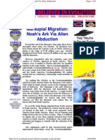 Marsupial Migration = Noah's Ark Via Alien Abduction