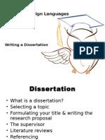 Dissertation Workshop - October 2014