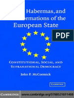 Habermas and Transformations of the European State- Constitutional, Social, And Supra-National Democracy 2007