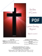 St. Rita Parish Bulletin 3/15/2015