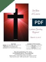 St. Rita Parish Bulletin 3/15/2015