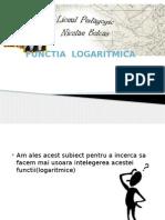 Functia Logaritmica