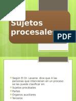 sujetos procesales