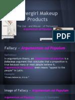 Logical Fallacy Presentation - Covergirl