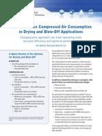 Reduce Air Use Drying Blowoff