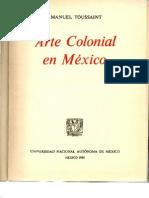 Arte Colonial en México_ Manuel Toussaint