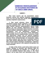 Ambrosius, De Noe Et Arca Liber Unus, LT