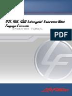 LifeFitness 95C Engage Console_E