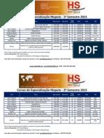 Calendarizao Dos Cursos de Especializao Moambique 2015 1