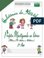Atividades Mast. as Letras - Março . Abril. 2015