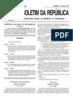 Decreto Nº 33-2009 de 1 de Julho