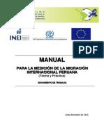 Manual Medicion de La Migracion Internacional Peruana