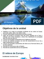 Unidad 10. Los Paisajes de Europa y de España c Medio 6º Primaria