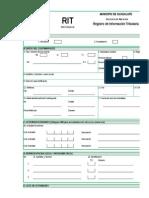 F-2001-Registro de Información Tributaria RIT Establecimiento de Comercio-Guadalupe