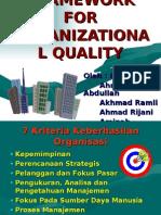 Framework for Organizational Quality