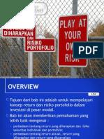 Portofolio & Investasi Bab 4 - Return yang Diharapkan & Resiko Portofolio.ppt