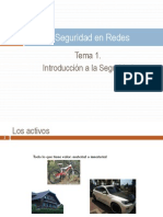 Tema 1. Introduccion a La Seguridad