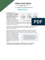 Termperatura y Dilatación Térmica