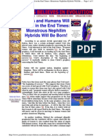 Aliens and Humans Will Breed in the End Times  = Monstrous Nephilim Hybrids Will Be Born