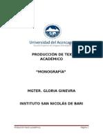 Producción de Texto Académico