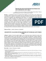 Análise de Sensibilidade Dos Parâmetros Do Índice de Qualidade de Água (Iqa)