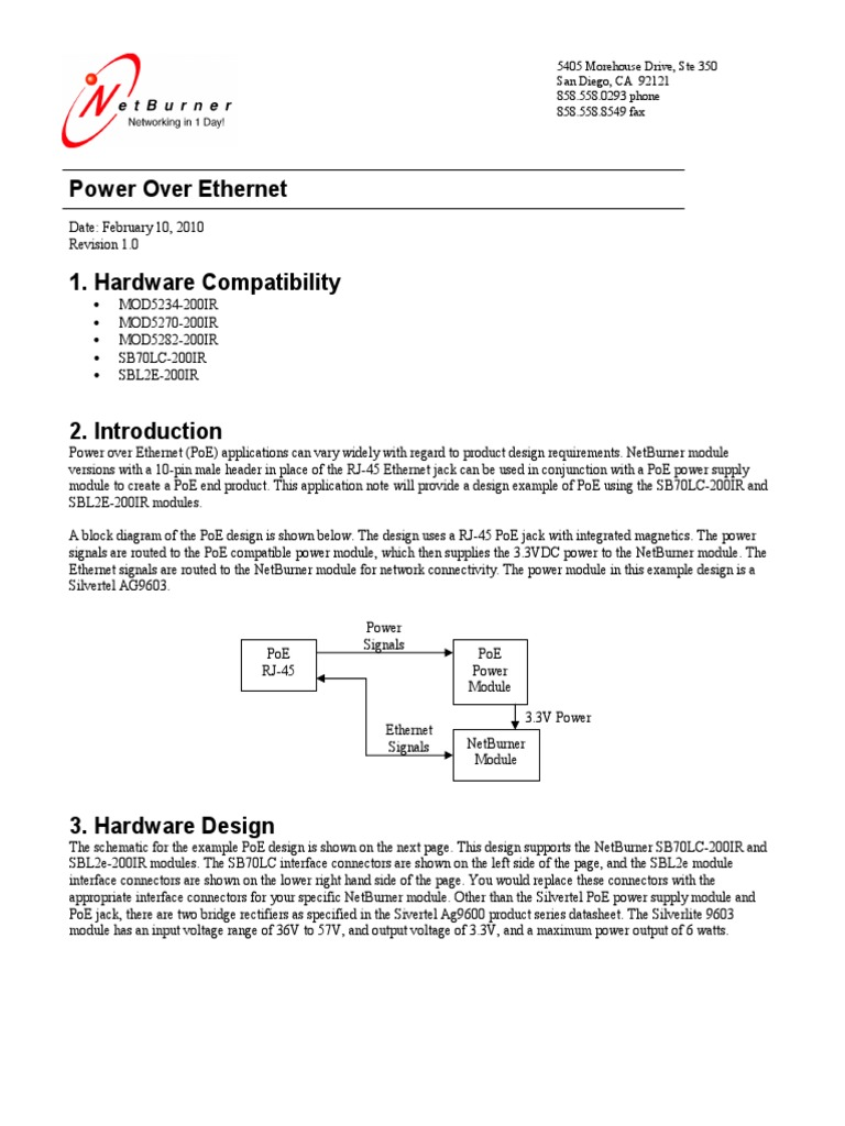 Power Over Ethernet Supply Block Diagram For Is Given Below
