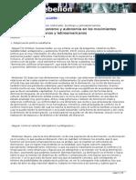 Subalternidad, antagonismo y autonomía en los movimientos sociopolíticos mexicanos y latinoamericanos