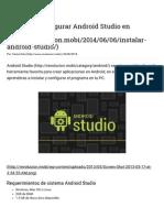 Instalar Android Studio en Windows (JAVA_HOME)