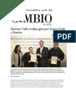 09-03-2015 Diario Matutino Cambio - Moreno Valle Realiza Gira Por Nueva York y Boston