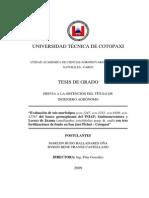 """""""Evaluación de Seis Morfotipos (Ecu-1247, Ecu-1251, Ecu-9109, Ecu"""