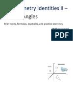Trigonometry Identities II - Double Angles.331113714