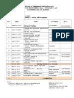 Jadwal Metris Reguler Sm Genap 2014-2015