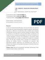 """Meta-Evaluacion Del Concepto """"Educacion Personalizada"""