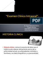 Examen Clinico Intraoral