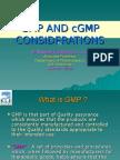 Gmp and Cgmp Considerations