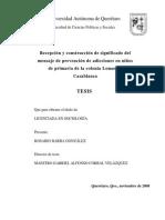 BARBA_Rosario_Recepción y Construcción Del Significado Del Mensaje de Prevención de Adicciones en Niños de La Primaria de La Colonia Lomas de Casablanca