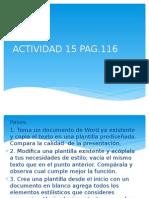 15. Actividad Pag.116