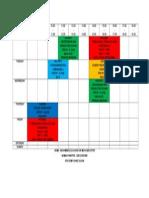 Jadual Semester 6 sains sukan 2015