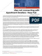 Political Parties Not Connecting With Apartment Dwellers- New Poll