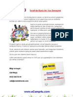 eCamp flyer in Turkish