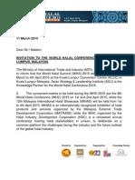 Generic Invitation Letter WHC 2015