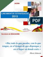 Lineamientos 2015 Secretaría de Educación Pereira.