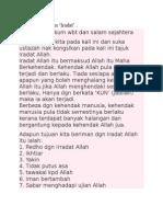 nota  sifat Allah iradah